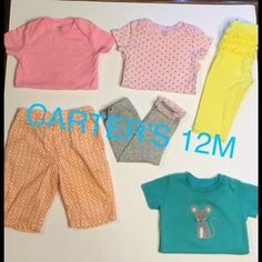 I just discovered this while shopping on Poshmark: GIRLS 12M CARTERS BUNDLE…