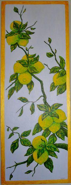 Limones   Acrílico sobre tabla  80€