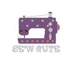 Sewing Machine Cross Stitch Pattern - Kawaii Sewing Machine Cross Stitch PDF
