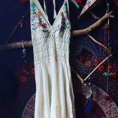Vintage seventies cotton hippy boho festival halter dress free size by inmynextlife on Etsy