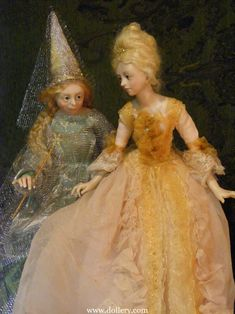 Cinderella and Godmother. Anna Abigail Brahms Collectible Dolls