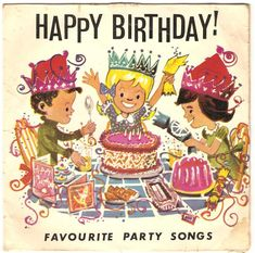 - The Beano Singers - Happy Birthday - Beano - UK Party Songs, Birthdays, Happy Birthday, Comic Books, Comics, Singers, Vintage, Anniversaries, Happy Brithday