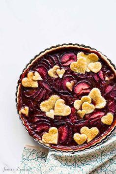 Plum tart recipe | /ktchnhealssoul/