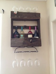 Wine rack made out of a old fence