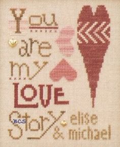 $21.60 The Trilogy-You are my LOVE Story Cross Stitch Kit  NEW!