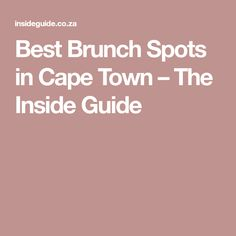 """It's been tagged as """"breakfast for people who sleep in"""", but there's more to brunch than that, as these fab Cape Town restaurants prove. Brunch Spots, Cape Town, Restaurant, Good Things, Breakfast, Morning Coffee, Restaurants, Dining Room, Morning Breakfast"""