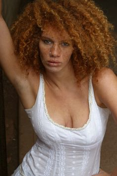 Love the hair, freckles, everything!