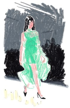 Mariosschwab Illustration: Damien Cuypers London Fashion Week
