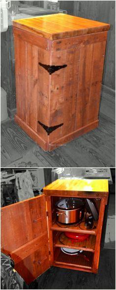 Fantastic pallets wood cabinet design