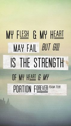 But God is the strength of my heart.