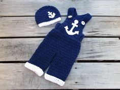 Free Crochet Baby Sailor Hat Pattern/etsy*com|listing|106906791|adorable Baby Boy Gift Set The Little - Buscar con Google