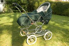 Silver Cross Pram - British Racing Green