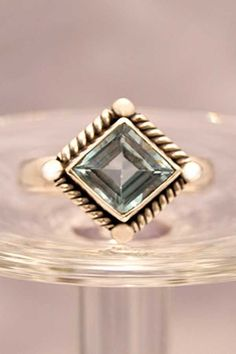 925 Sterling Silver Ring Blue Topaz