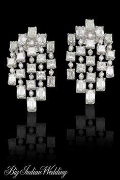 AS Motiwala contemporary diamond earrings