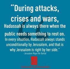 Hadassah - Support from Jerusalem Mayor Nir Birkat