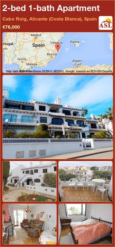 Apartment for Sale in Cabo Roig, Alicante (Costa Blanca), Spain with 2 bedrooms, 1 bathroom - A Spanish Life Apartments For Sale, Valencia, Portugal, Alicante Spain, Log Burner, Murcia, Double Bedroom, Seville, Sevilla
