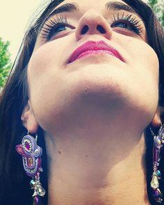 Guarda questo articolo nel mio negozio Etsy https://www.etsy.com/it/listing/515612250/romantic-earrings-in-soutache-with