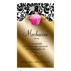 Bakery Business Card Cupcake Pink Caramel