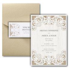 Ornate Burlap Layered Pocket Wedding Invitation Icon Online Fonts, Burlap Background, Pocket Wedding Invitations, Lettering Styles, Matching Cards, Response Cards, Youre Invited, White Envelopes, Wedding Cards