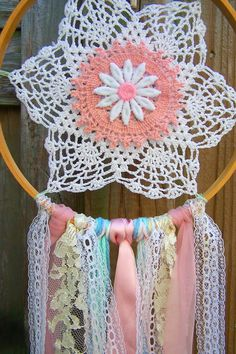 Beautiful Hand Made Dream Catcher Shabby Chic by FabFindsandDesign, $20.00