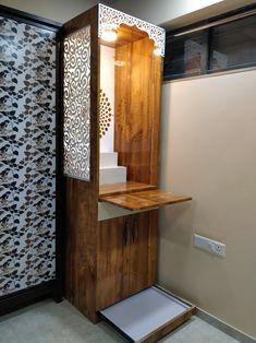 Kitchen Room Design, Home Room Design, Interior Design Kitchen, House Design, Wooden Temple For Home, Temple Design For Home, Living Room Designs India, Living Room Tv Unit Designs, Mandir Design