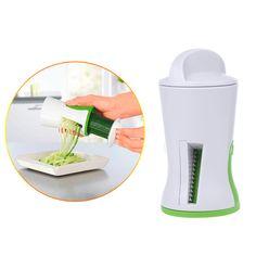 Vegetable Slicer Fruit Spiral Shred Process Device Cutter Peeler Useful Kitchen Tool Slicer for Carrot Cucumber Salads Garnishes