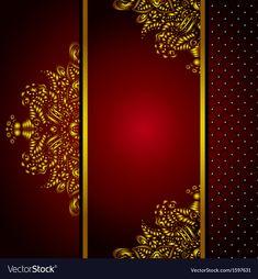 Royal Golden Frame Menu card vector image on VectorStock Golden Background, Art Background, Decent Wallpapers, Background Templates, Card Templates, Arabic Pattern, Wedding Card Design, Menu Cards, Wedding Invitation Cards
