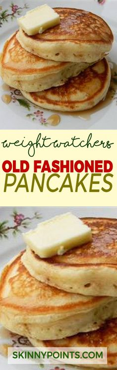 Healthy Recipes Old Fashioned Pancakes - Weight Watchers FreeStyle Smart Points Friendly Weight Watcher Desserts, Pancakes Weight Watchers, Weight Watchers Breakfast, Weight Watchers Diet, Weight Watcher Dinners, Weight Watchers Waffle Recipe, Ww Recipes, Skinny Recipes, Cooking Recipes