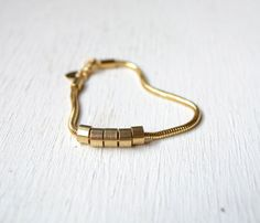 Brass Bead Bracelet >> So unique and lovely!