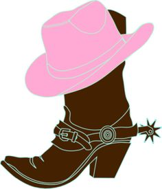 cowboy images clip art free cowboy boot with hat clip art clip rh pinterest com