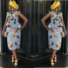 Classy picture collection of Beautiful Ankara Skirt And Blouse Styles These are the most beautiful ankara skirt and blouse trending at the moment. If you must rock anything ankara skirt and blouse styles and design. Ankara Short Gown Styles, Trendy Ankara Styles, Short Gowns, Ankara Skirt And Blouse, Ankara Dress, African Wear, African Dress, African Clothes, African Attire