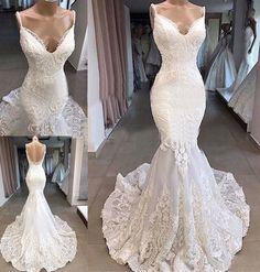 Arabic Wedding Dresses, Arab Wedding, White Lace Wedding Dress, Sweetheart Wedding Dress, Lace Mermaid Wedding Dress, Backless Wedding, Sexy Wedding Dresses, Mermaid Dresses, Wedding Dress Styles