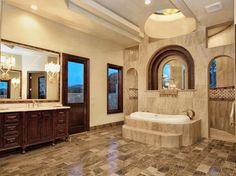Elegant Master Bath with encased Jacuzzi Tub by Zbranek and Holt Custom Homes