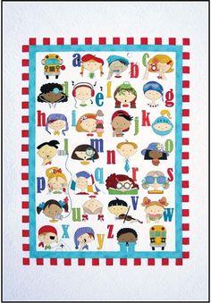 Quilt Pattern MY ALPHABET QUILT from Amy Bradley Designs