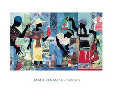 Yard Sale James Denmark AM016  Paper: 22 x 28 Image: 14 3/8 x 22 3/4   Retail $32.00