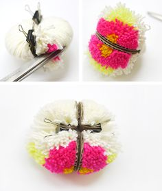 Diy yarn ball pom pom bookmark t. Crafts For Teens, Diy And Crafts, Arts And Crafts, Machine A Pompon, Pom Pom Tutorial, Pom Pom Animals, Pom Pom Maker, How To Make A Pom Pom, Boyfriend Crafts