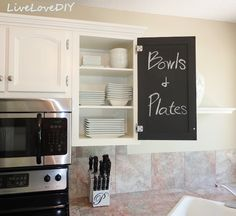 chalkboard paint to label your cabinets.