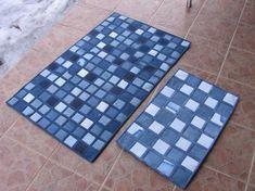 15 ковров из джинсовой ткани