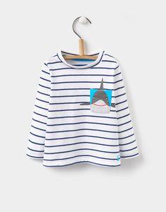 Peeker Navy Stripe Jersey Top  | Joules US