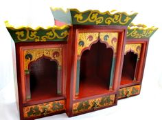 painted wooden altar - use as inspiration for painted piece of furniture