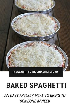 Baked Spaghetti (Easy Freezer Meal to Bring to Others) in crockpot meals to make tortillas amish bread bread recipes Make Ahead Freezer Meals, Freezer Cooking, Kid Meals, Meals Good For Freezing, Hamburger Freezer Meals, Easy Freezable Meals, Meals To Freeze, Individual Freezer Meals, Freezer Dinner