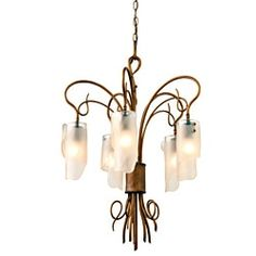 Shop for Varaluz Soho 5-light Brown Hammered Ore Ice Glass Chandelier. Get free shipping at Overstock.com - Your Online Home Decor Outlet Store! Get 5% in rewards with Club O!