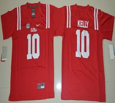 Youth Ole Miss Rebels Chad Kelly 10 College Football Jersey - Red