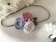 Flower cluster flowercrown felt baby floral headband photoprop