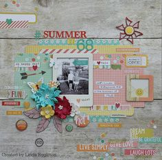 All About Scrapbooks - Simple Stories Summer Vibe by Linda Eggleton