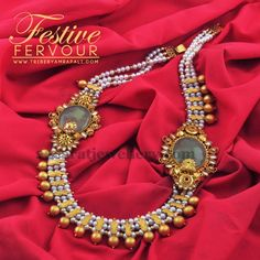 Jewellery Designs: Pearls Long Set by Amrapali Jewellers