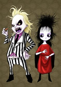 Beetlejuice: One of my all time favorite movies. ♥Tim Burton is just absolutely amazing. Tim Burton Stil, Tim Burton Kunst, Film Tim Burton, Tim Burton Characters, Tim Burton Art, Horror Art, Horror Movies, Horror Cartoon, Horror Pics