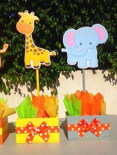 Resultado de imagen para decoracion para baby shower CON MOTIVO DE ANIMALITOS