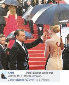 There's room for two under that umbrella. This is Titanic all over again