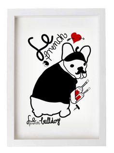 French Bulldog / frenchie / Print /  by nicemiceforyou on Etsy, $20.00